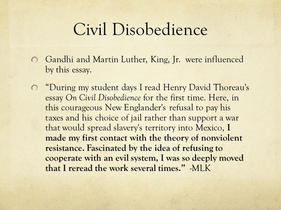Civil Disobedience (Stanford Encyclopedia of Philosophy)