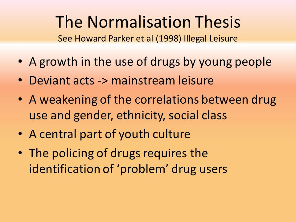 the normalisation thesis
