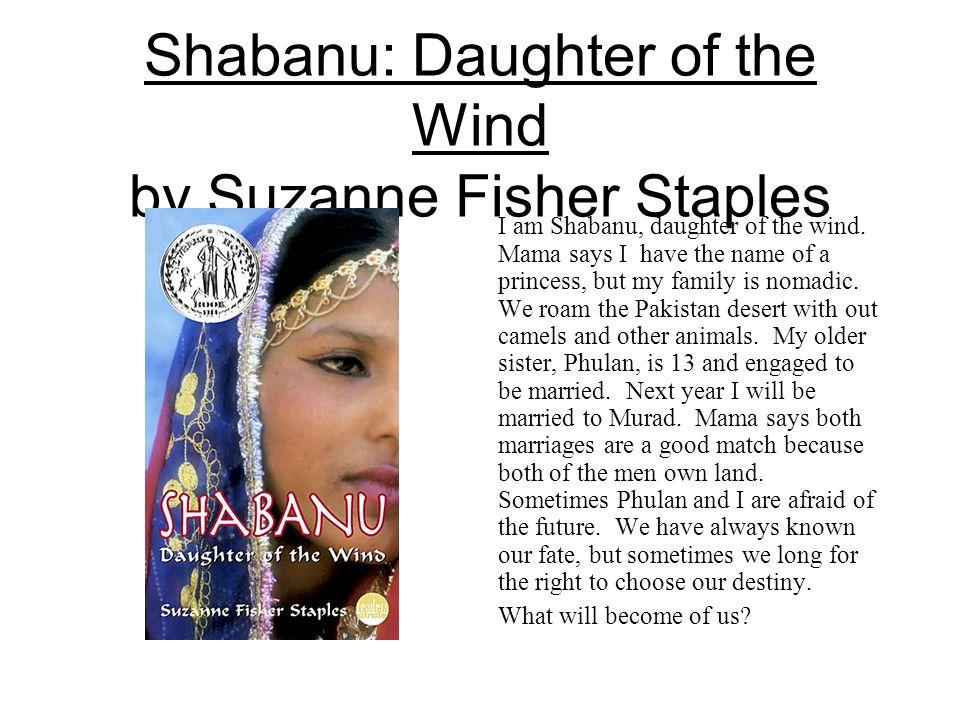 Do u know how to write an essay on ''Shabanu'' novel? by Susan Fisher.?