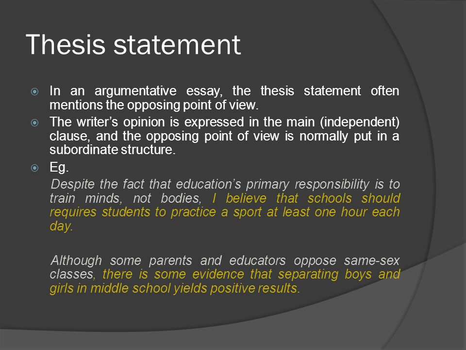 Thesis Statement For Argumentative Essay On Abortion