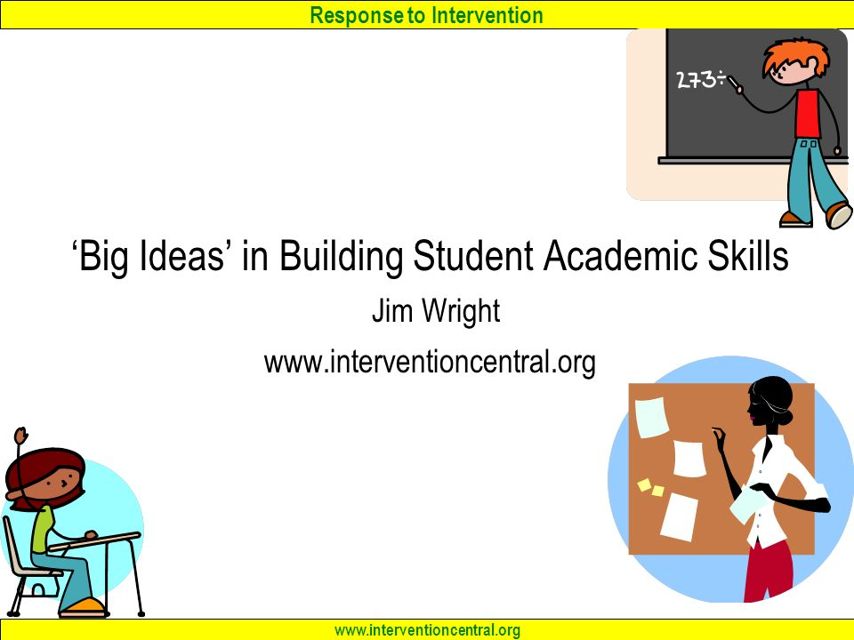 Response to Intervention 'Big Ideas' in Building Student Academic ...