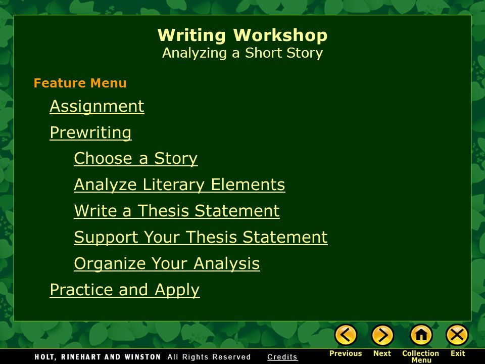 short narrative writing assignments