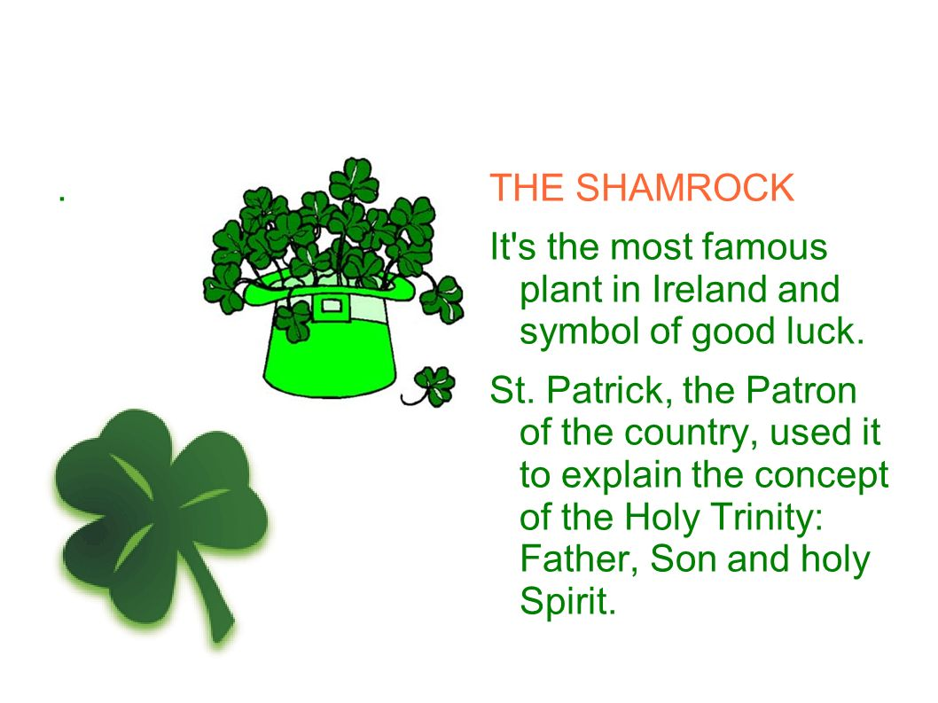 Symbols of ireland the irish flag its greenthe colour of ireland the shamrock it s the most famous plant in ireland and symbol of good luck biocorpaavc Images