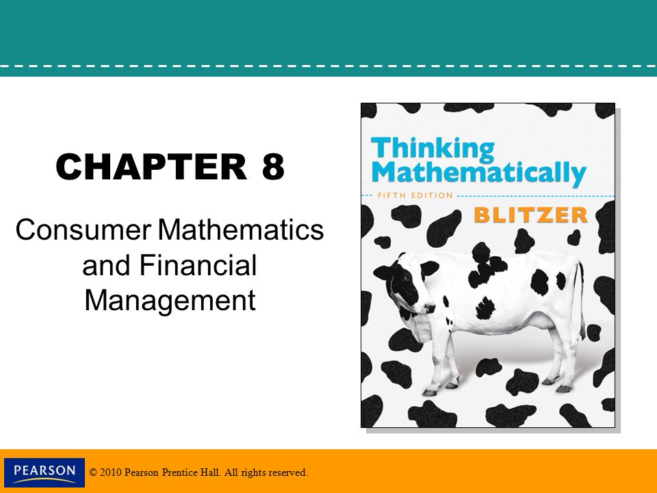 2010 Pearson Prentice Hall. All rights reserved. CHAPTER 8 Consumer ...