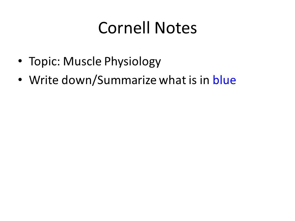 Tuesday Nov 29 Objective Explain Muscle Physiology Brlabel The