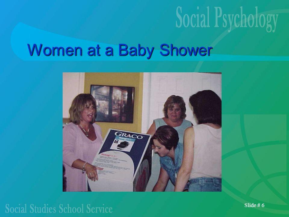 Slide # 6 Women at a Baby Shower