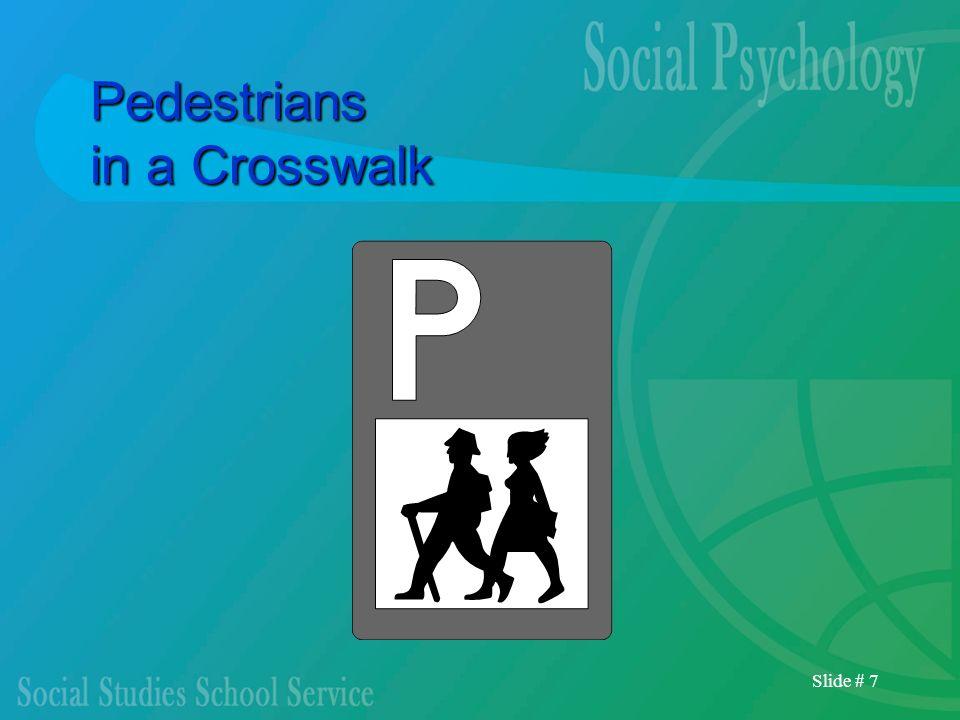 Slide # 7 Pedestrians in a Crosswalk