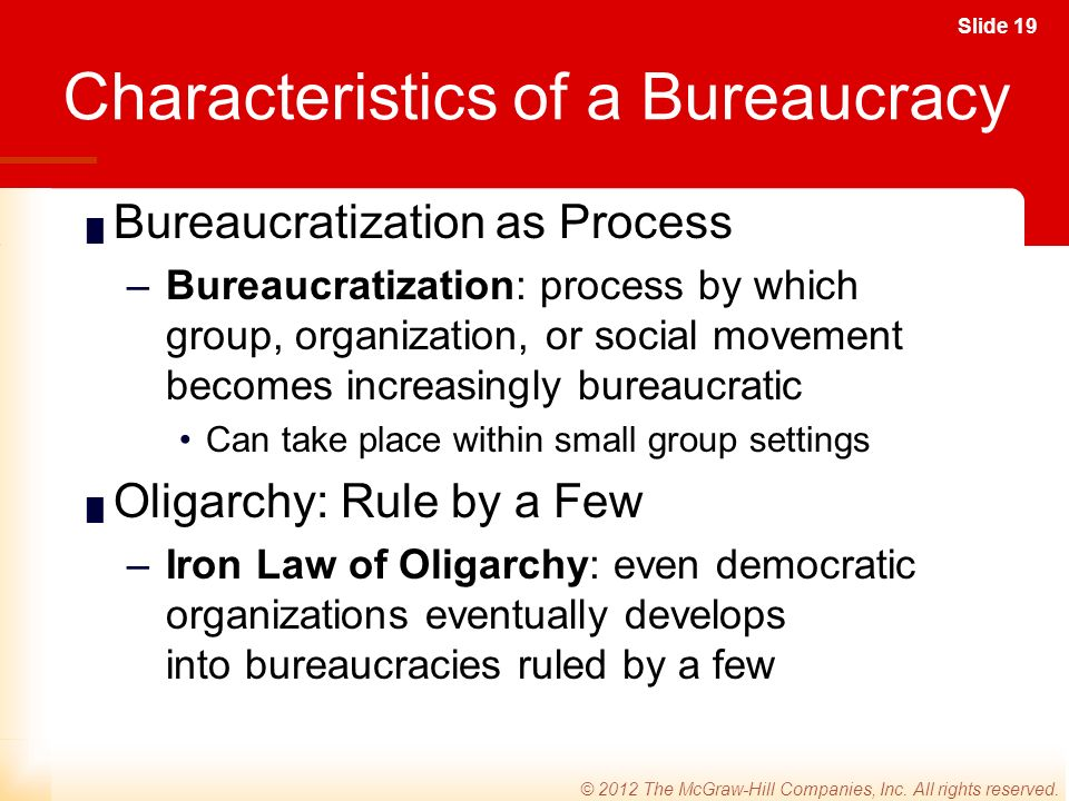 Slide 19 © 2012 The McGraw-Hill Companies, Inc. All rights reserved.