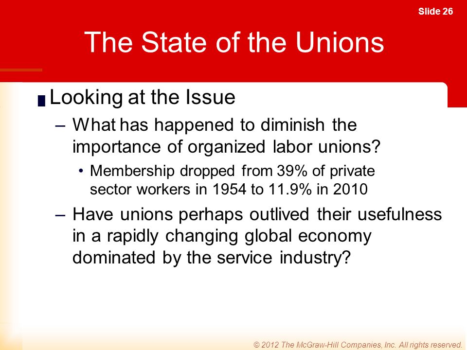 Slide 26 © 2012 The McGraw-Hill Companies, Inc. All rights reserved.