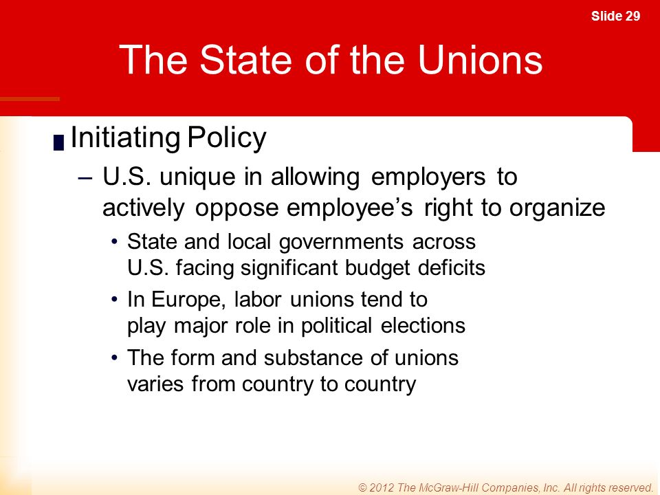 Slide 29 © 2012 The McGraw-Hill Companies, Inc. All rights reserved.