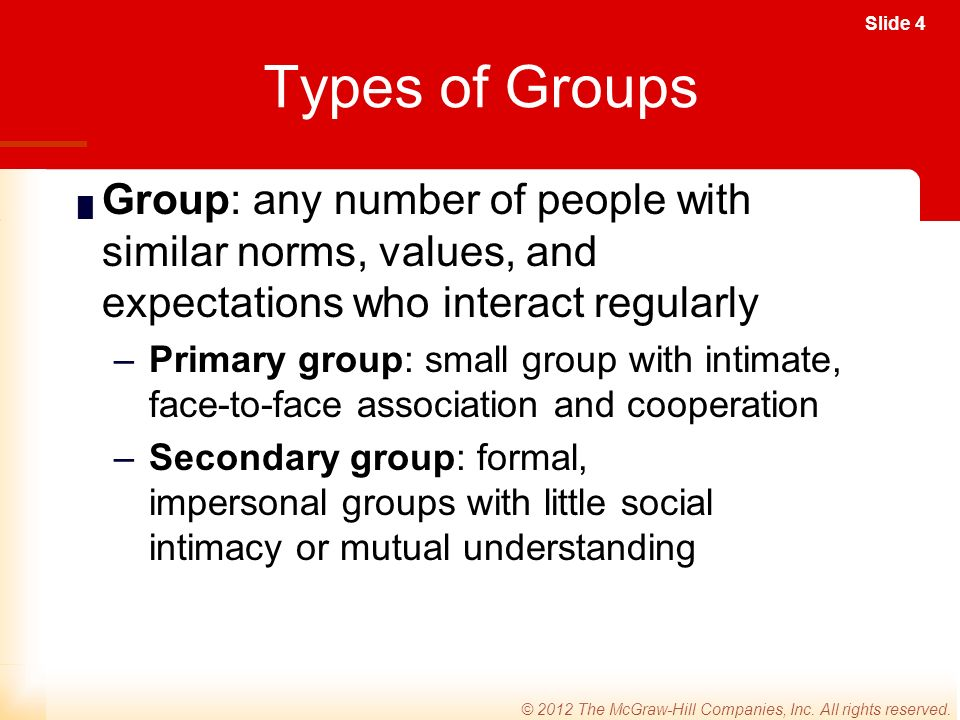 Slide 4 © 2012 The McGraw-Hill Companies, Inc. All rights reserved.