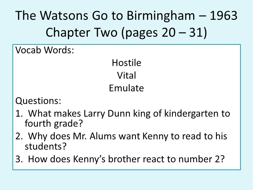 Fast Online Help essay questions bloom39s taxonomy – The Watsons Go to Birmingham Worksheets