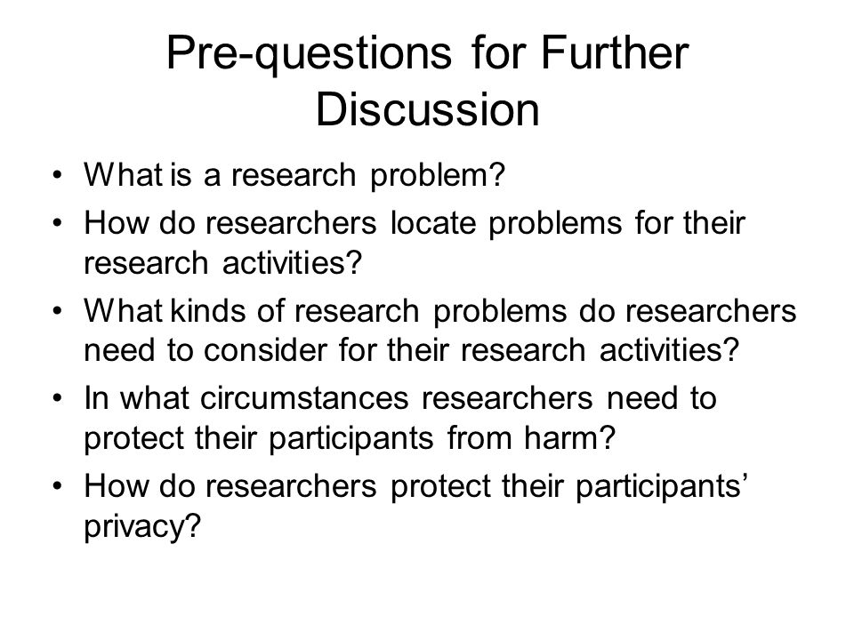 guidelines in the selection of a research problem or topic Chapter 2 identifying a research problem and question 25 your research topic or problem statement, research question, and hypothesis use.