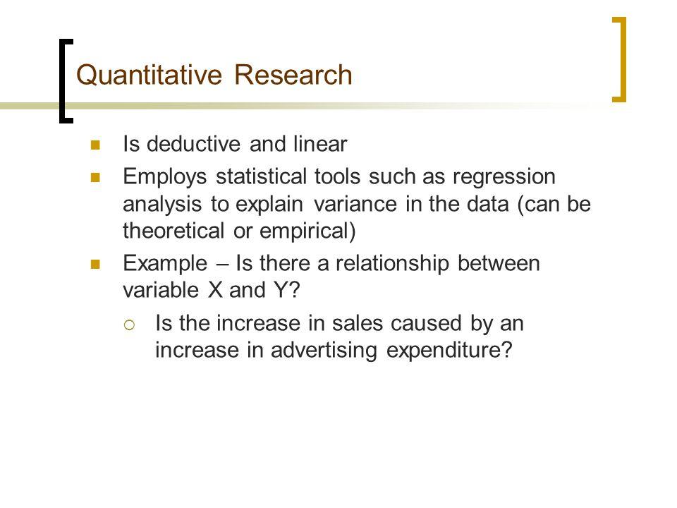 quantitative research methodology example