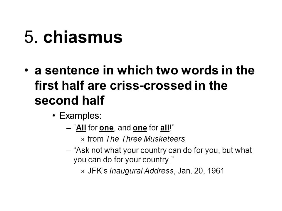 Need help with chiasmus and parallelism sentences?