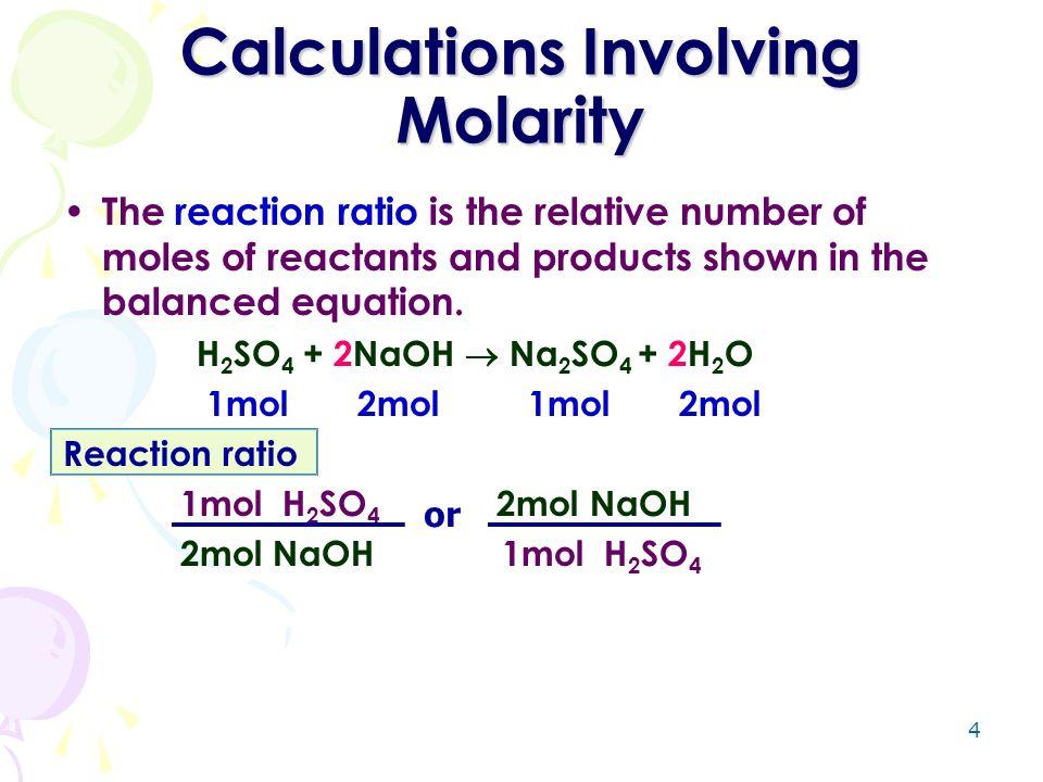molarity calculations essay