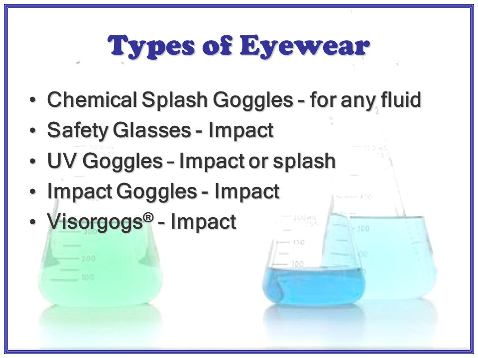 Eye and Face Protection OSHA 29 CFR and 29 CFR NC §G.S.