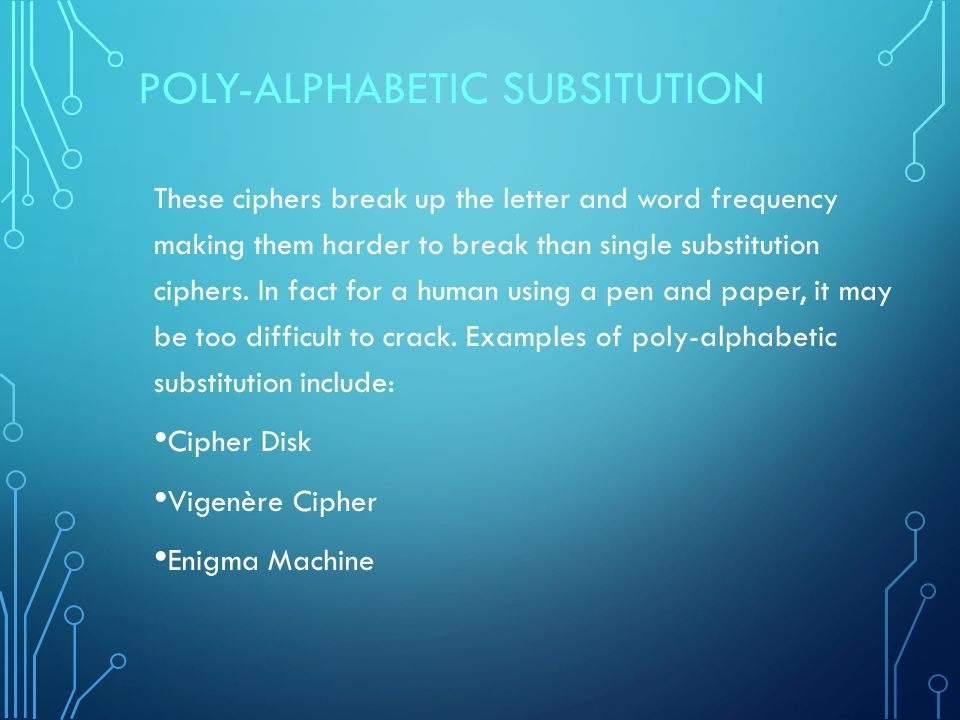 substitution ciphers to crack out