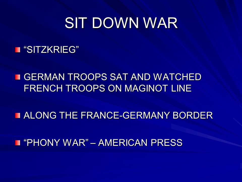 SIT DOWN WAR SITZKRIEG GERMAN TROOPS SAT AND WATCHED FRENCH TROOPS ON MAGINOT LINE ALONG THE FRANCE-GERMANY BORDER PHONY WAR – AMERICAN PRESS