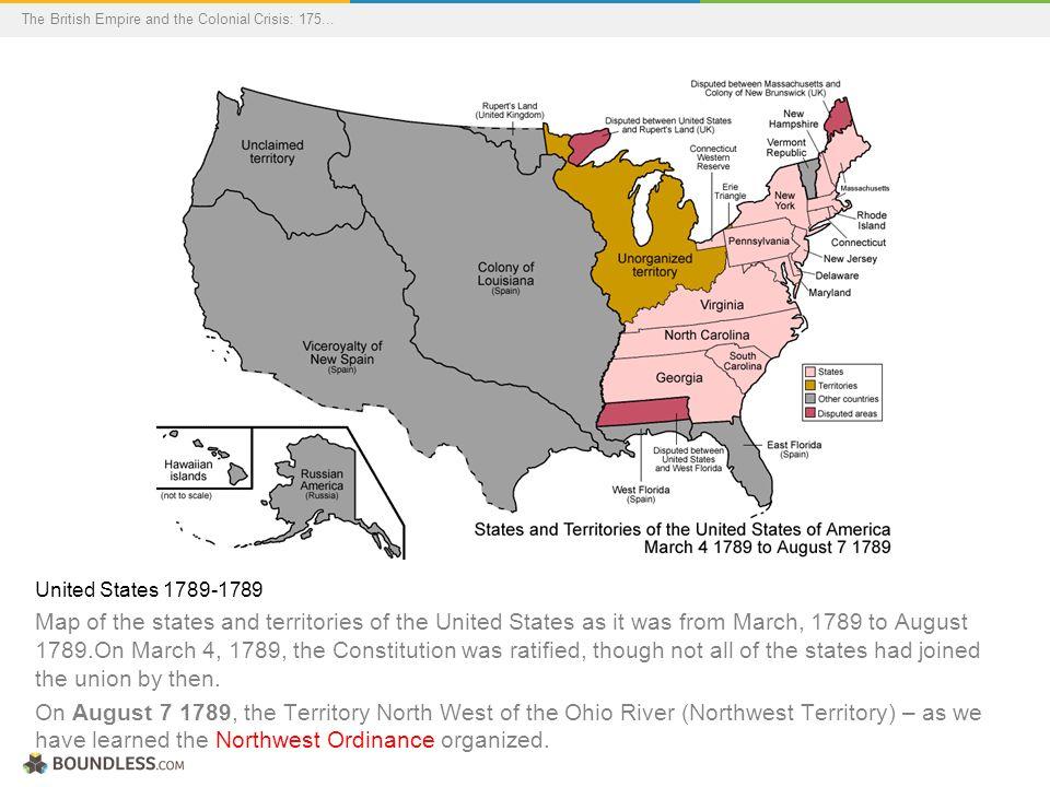 16 United States 1789 1789 Map