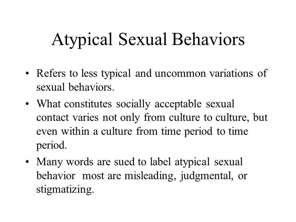 Variations In Sexual Behavior
