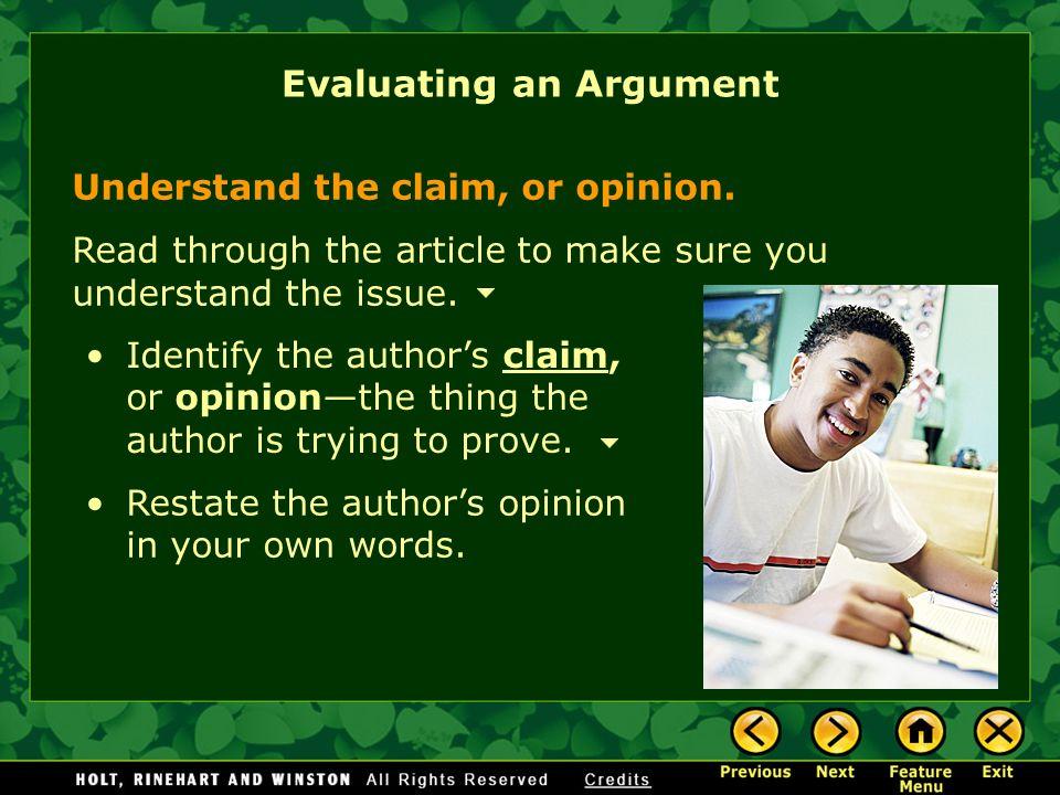 Argument article