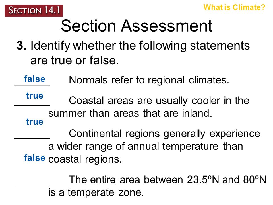 ______ Normals refer to regional climates.