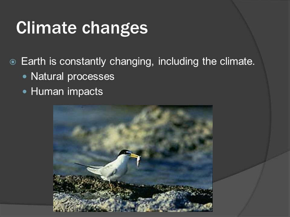 Climate changes  Earth is constantly changing, including the climate.