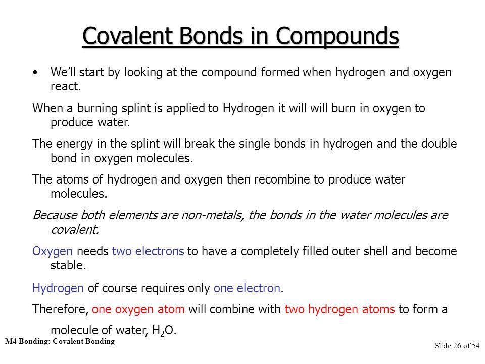 M4 Bonding I: Covalent Bonding. M4 Bonding: Covalent Bonding Slide ...