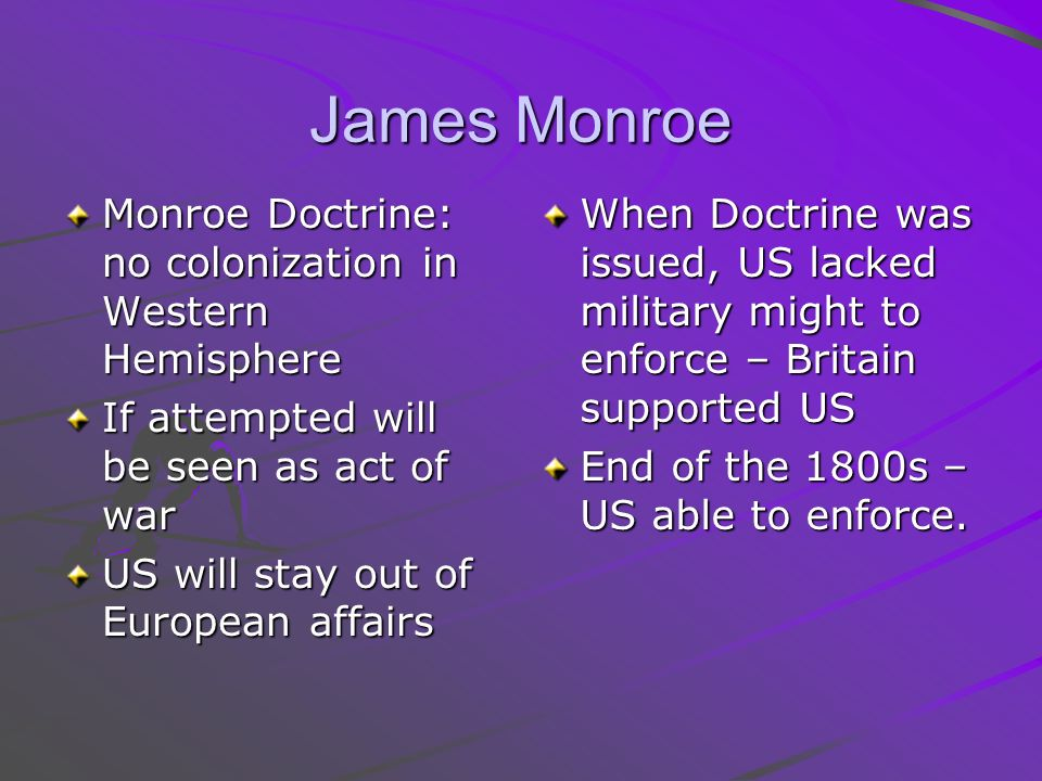 the monroe doctrine essay Free essay: the monroe doctrine was presented by president james monroe in his annual address to congress in 1823 essentially its author, john quincy.