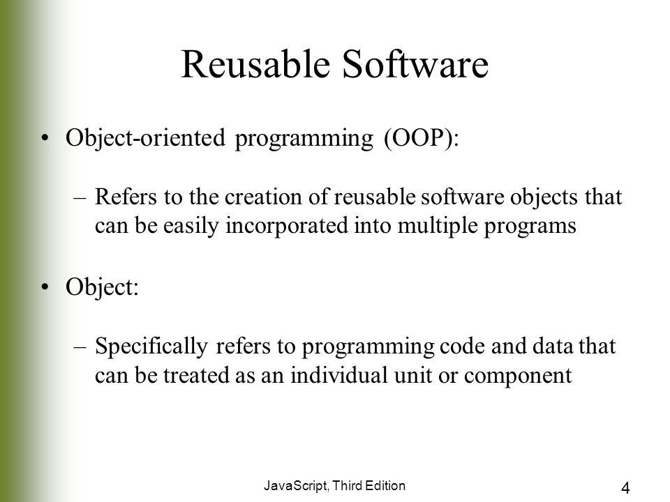 Chapter 6 object oriented java script javascript third edition 4 javascript third edition 4 reusable software malvernweather Choice Image