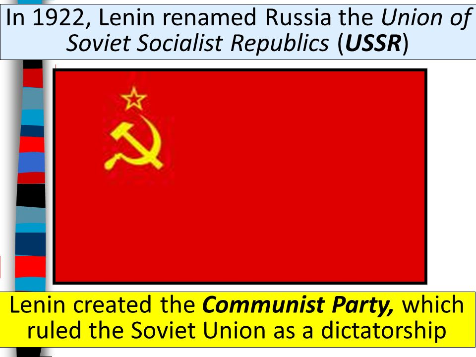 After three years of fighting, the Red Army won and Lenin became the unquestioned leader of Russia