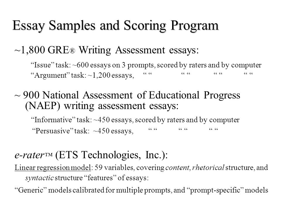 further evaluation of automated essay score validity p adam kelly  5 essay samples