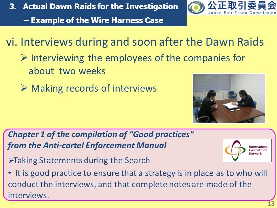 slide_13 searches, raids and inspections in japan by the jftc naohiko wire harness cartel at bayanpartner.co