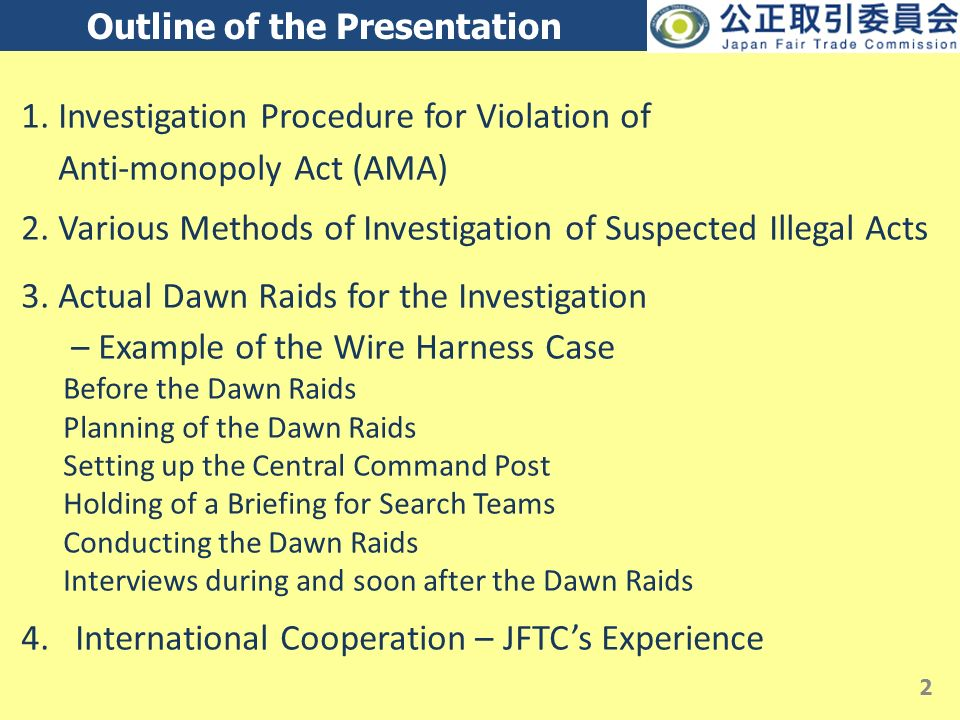 slide_2 searches, raids and inspections in japan by the jftc naohiko  at n-0.co