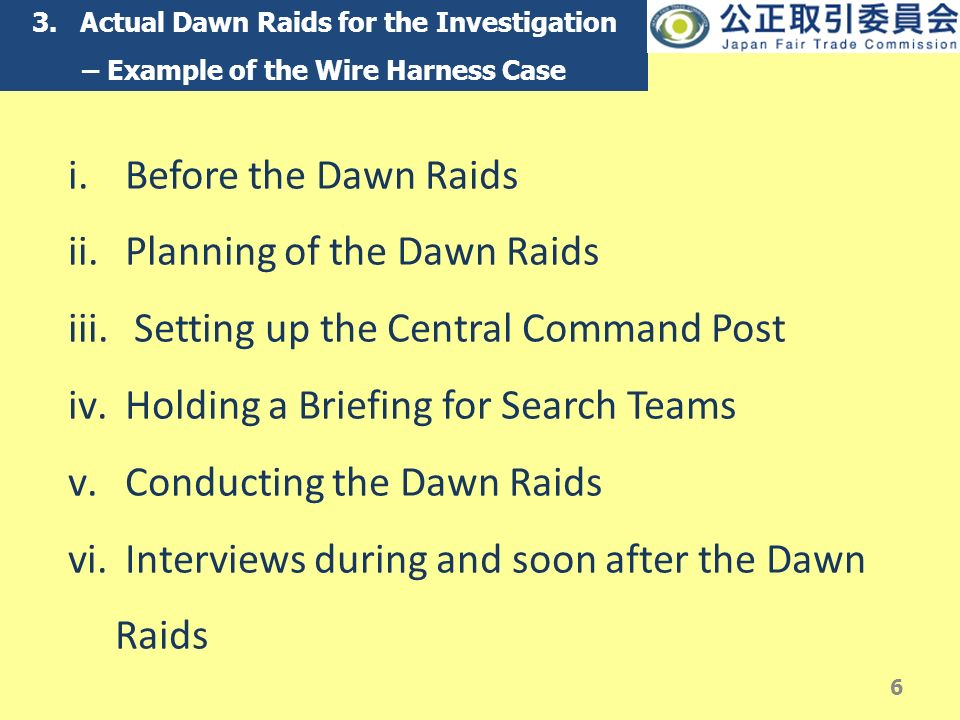 slide_6 searches, raids and inspections in japan by the jftc naohiko wire harness cartel at fashall.co
