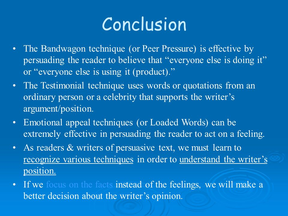 Persuading a reader?!?