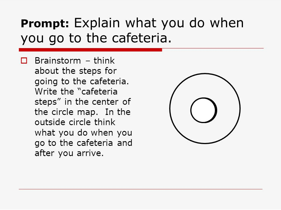 Prompt: Explain what you do when you go to the cafeteria.