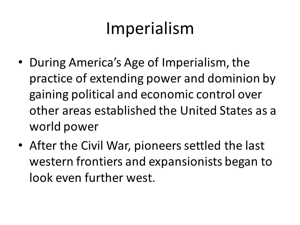 Are american imperialis and maifest destiny basically the same thing?