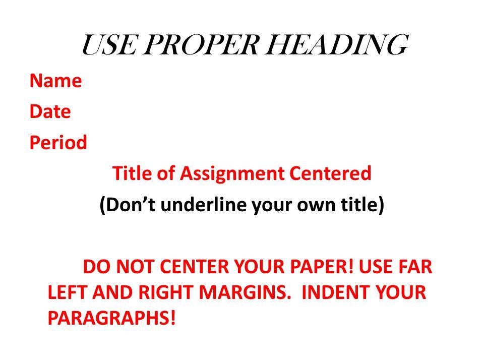 Underline Titles Of Essays