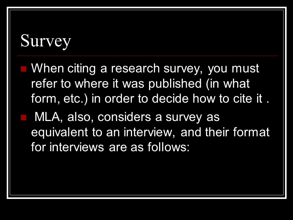 Citing survey mla research papers create thesis statement