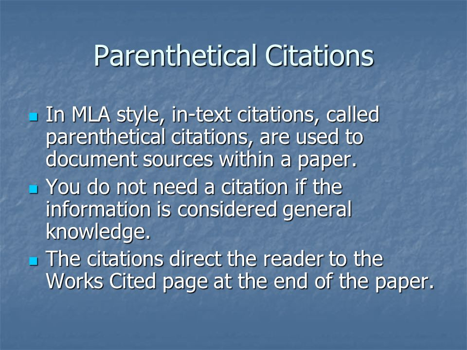 mla style citations Mla citation format adapted from the mla handbook, 7th edition mla citation format is a method for formatting your paper and documenting the sources of.