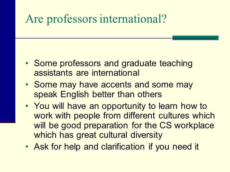 Are professors international.