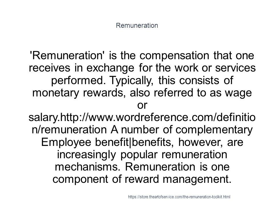 Remuneration httpsstoreeartofservicethe remuneration 4 remuneration malvernweather Gallery