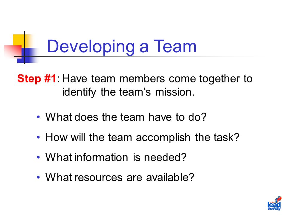 What does the team have to do. How will the team accomplish the task.