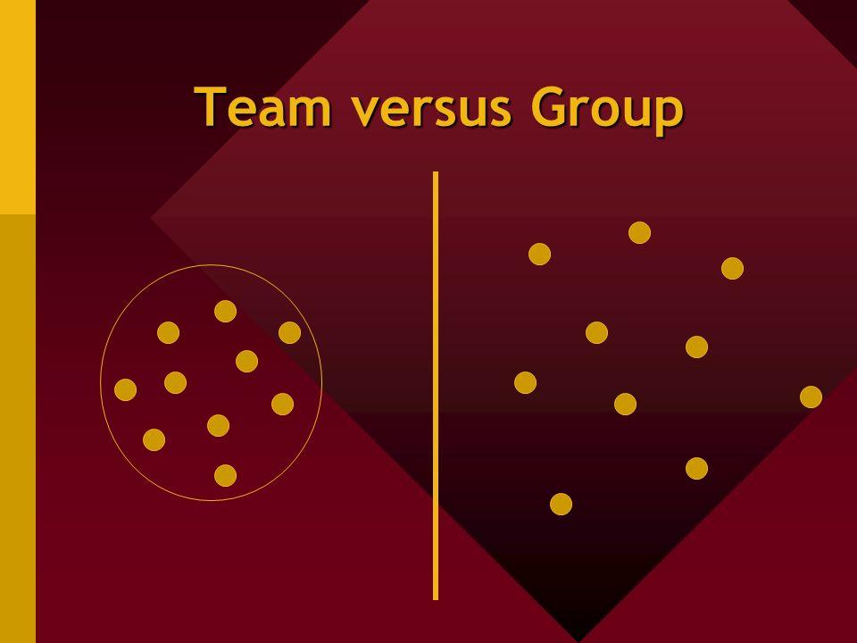 Team versus Group