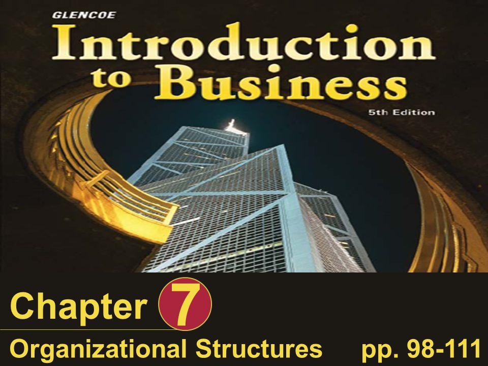 Chapter 7 Organizational Structurespp. 98-111