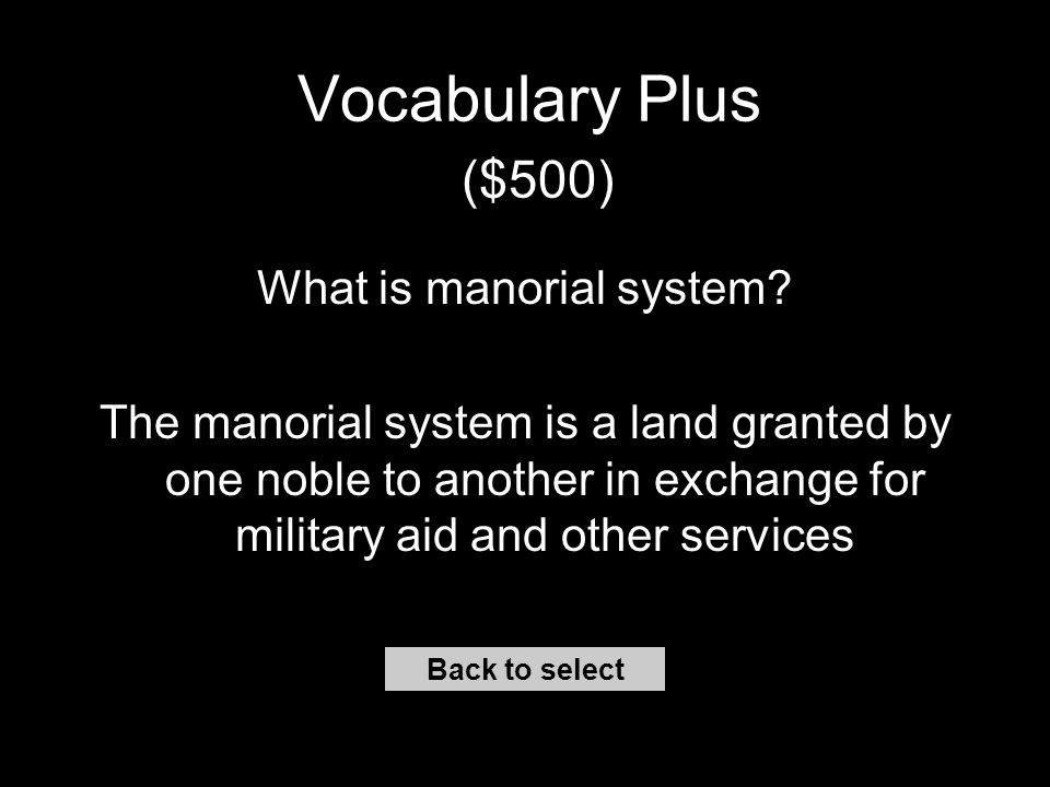 Vocabulary Plus ($400) Back to select What is Gothic.