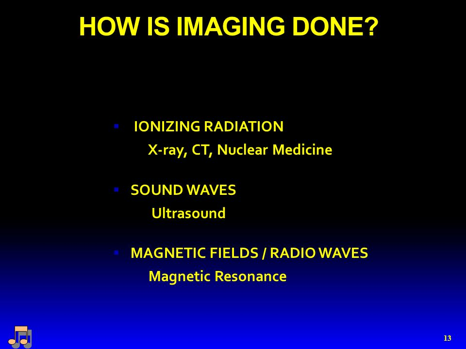 HOW IS IMAGING DONE.