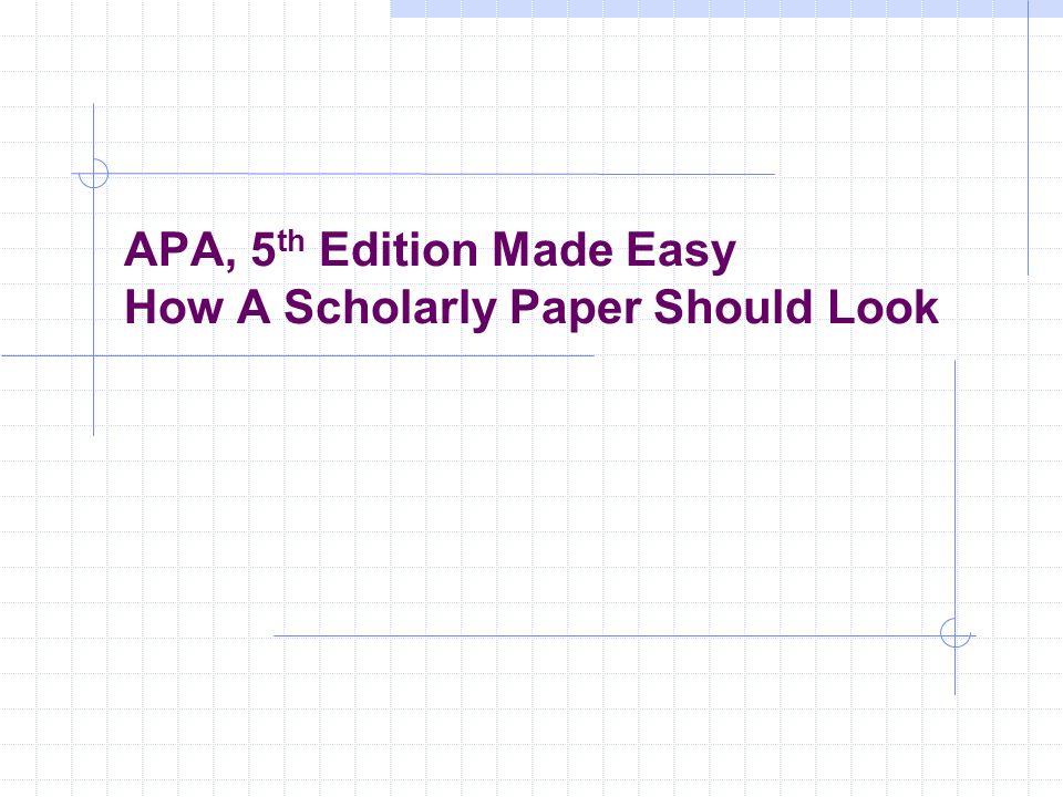 Easy paper apa